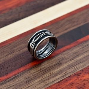 Jewelry - 925 Patina Sterling Silver Ring